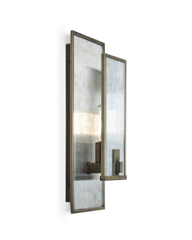 Light Antique Brass with Antiqued Ribbed Mirror