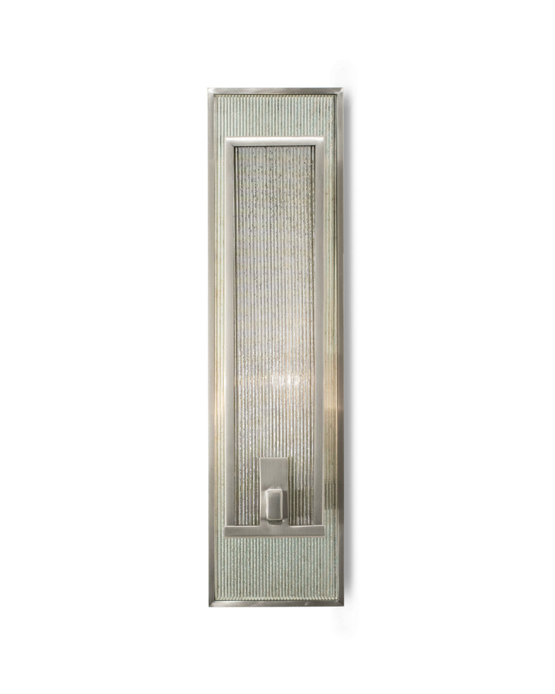 Satin Nickel with Antiqued Ribbed Mirror