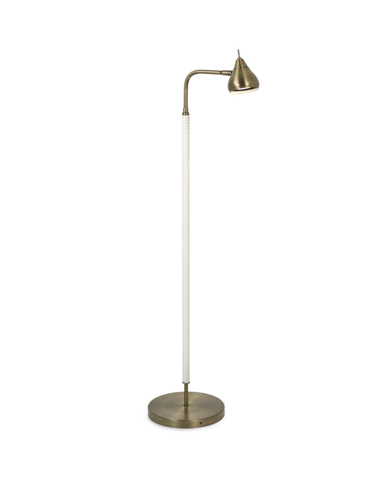Sofia Single Floor Lamp Black Leather