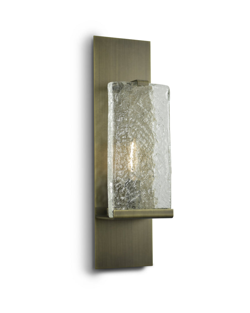 Light Antique Brass with Clear Cast Glass