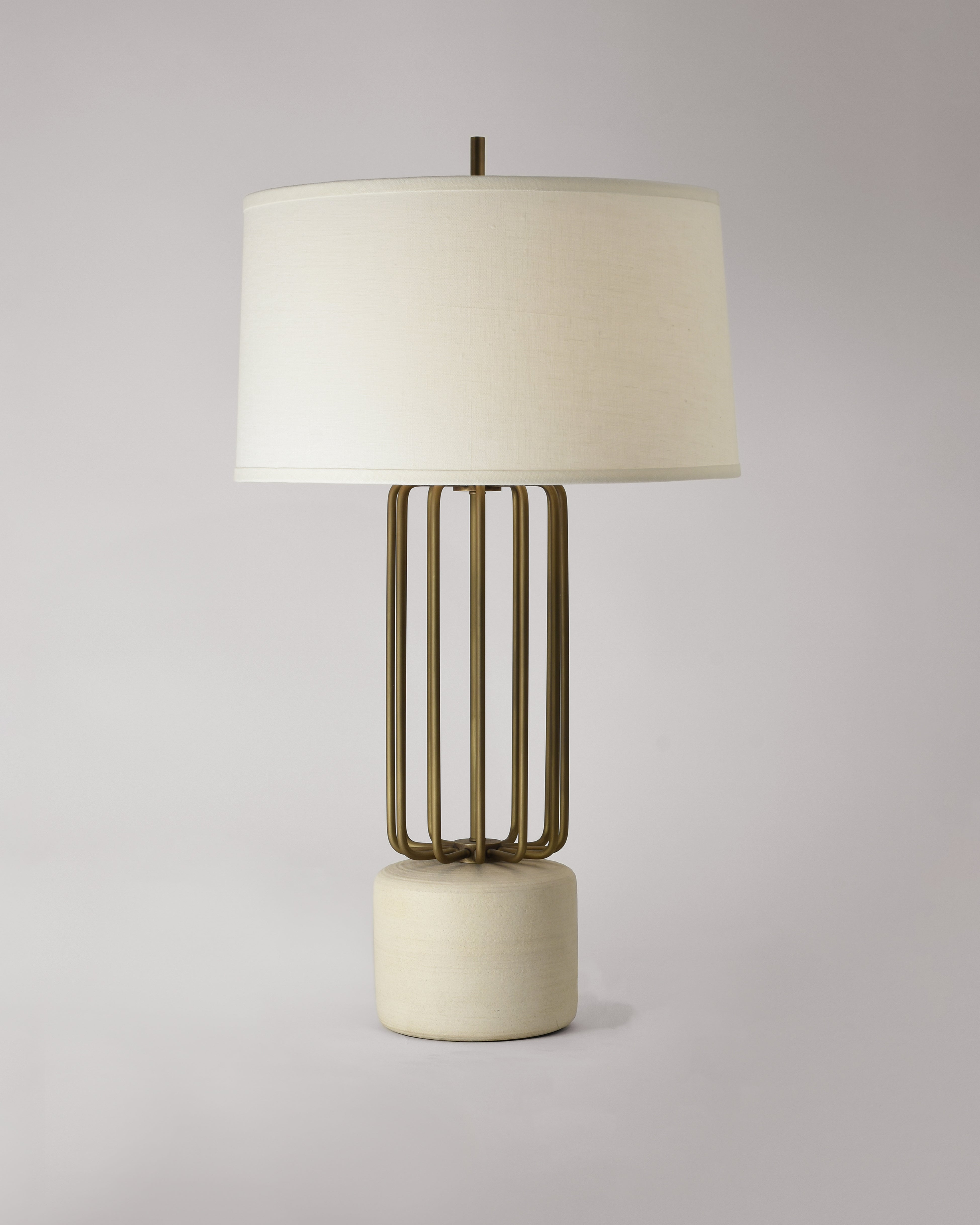Light Antique Brass with Cashmere and White Linen