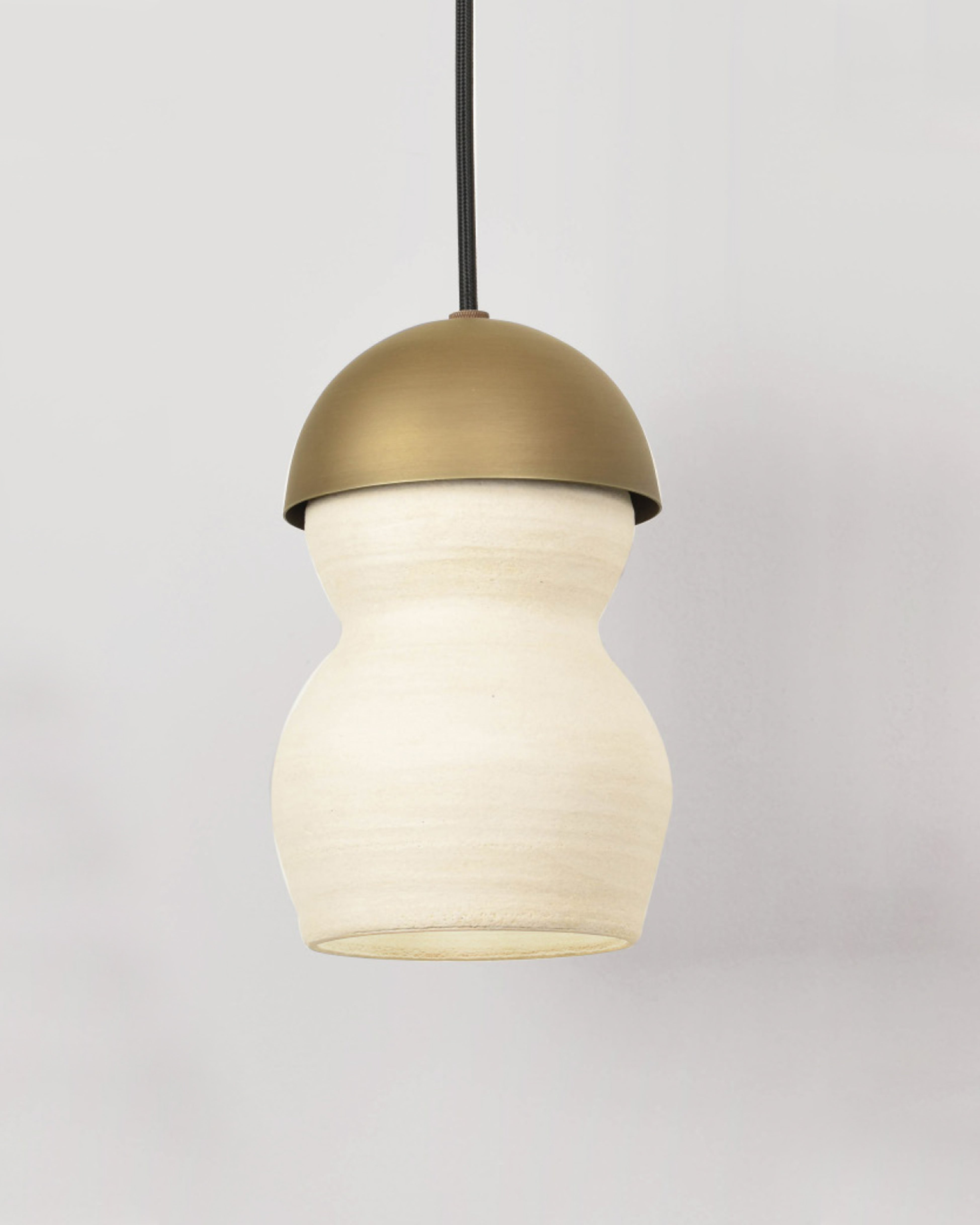 Cashmere Ceramic and Light Antique Brass