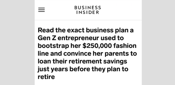 Business Insider: Read the Business Plan a Gen Z Entrepreneur Used