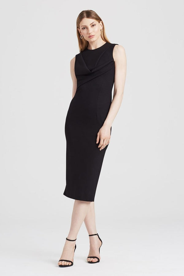 Drape Dress in Black - Dresses