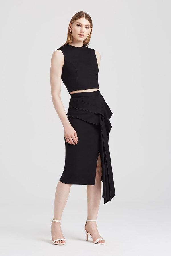 Flounce Skirt in Black - Skirts