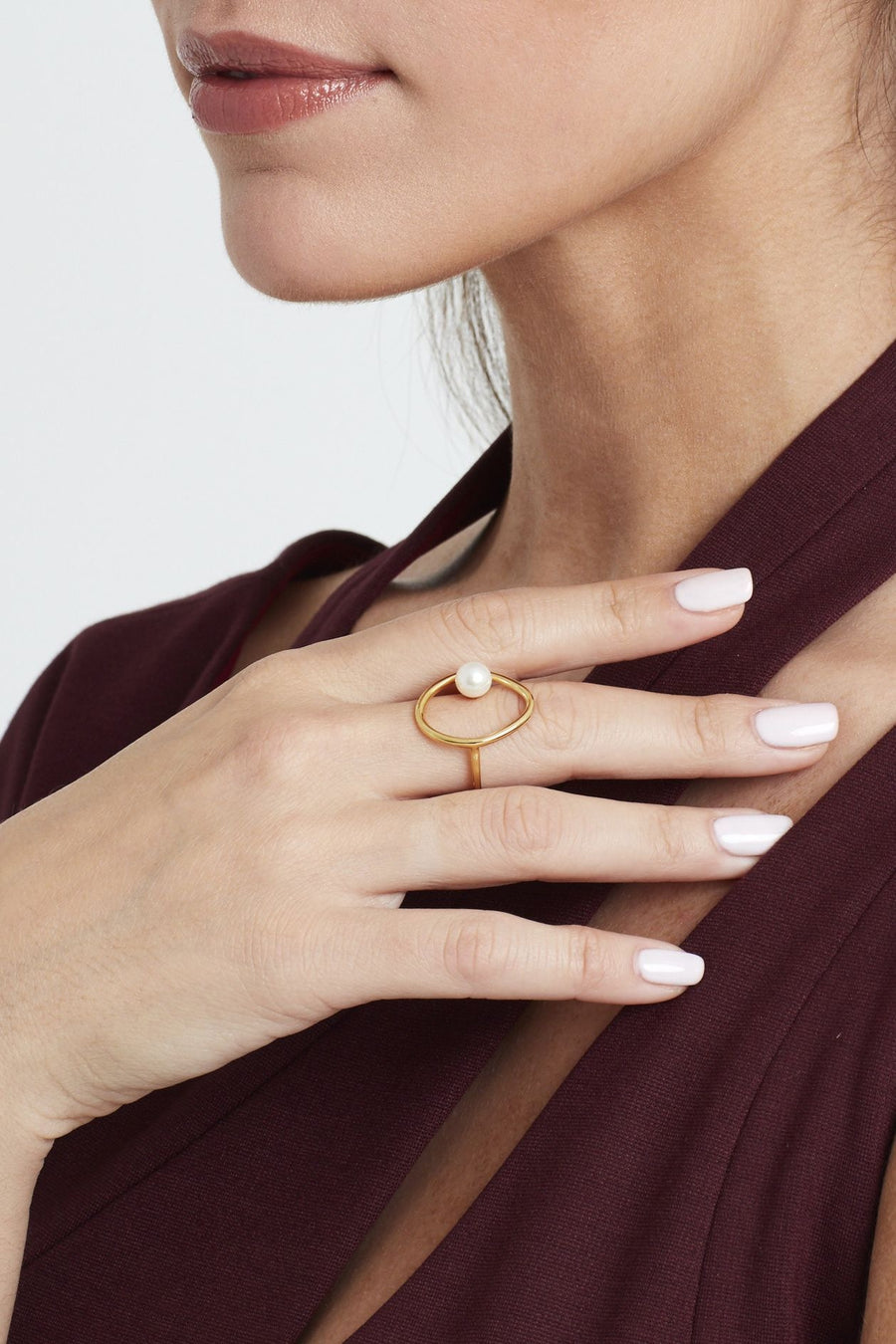 Floating Pearl Ring