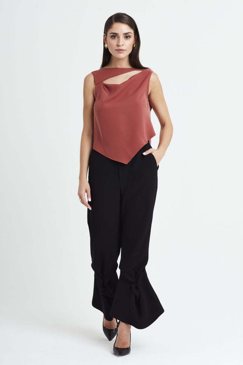 Lotus Drape Top in Bloom