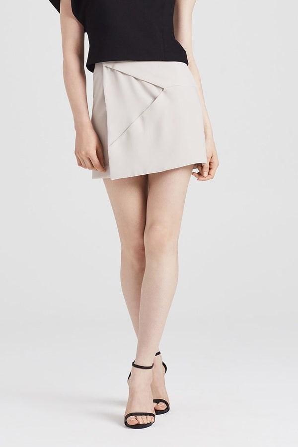 Origami Skirt in Stone - Skirts
