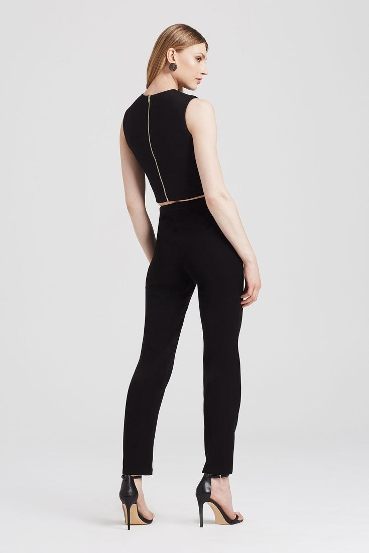 Structural Crop in Black - Tops