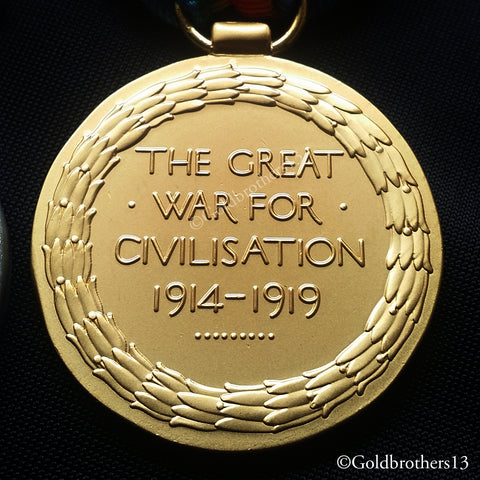 VICTORY MEDAL THE GREAT WAR FOR CIVILISATION 1914-1919 WW1 BRITISH COPY