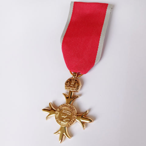 Order Of The British Empire MBE Medal Military Award with ribbon Repro