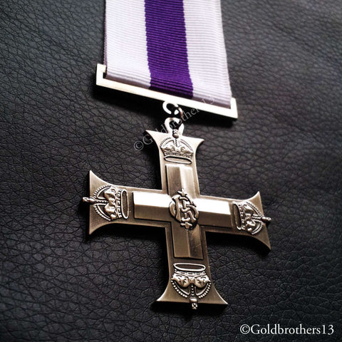 British medal: Military cross distinguished service order and Victoria cross medals set detail four