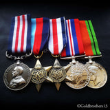 5x Set Military Medal 1945 star Fr. & Ger. Star War Medal & Defence Medal Repro
