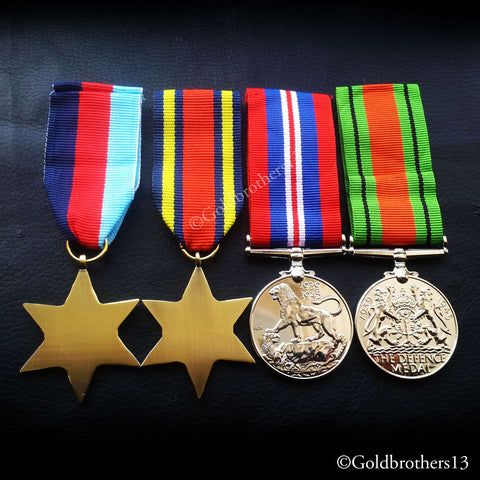 4x Set 1945 star Burma Star War Medal & Defence Medal WW2 Military Medals Repro