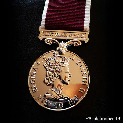 Medal for Long Service and Good Conduct Regular Army , Queen Elizabeth II Repro