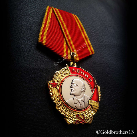 Russian badge and medal Order of Lenin