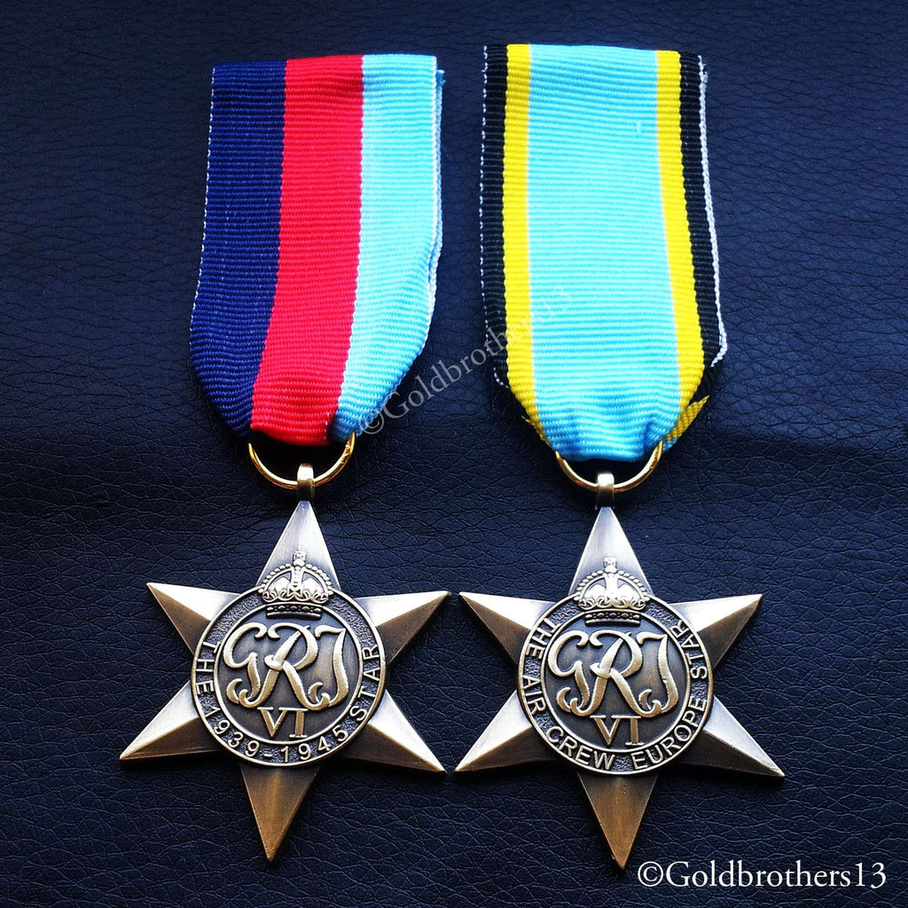 British Military Medal 1939 - 1945 The Air Crew Europe Star details