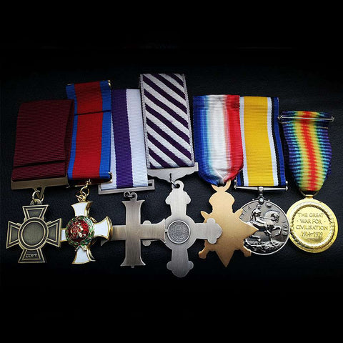 Military medals RARE SET Victoria Cross DSO MC DFC 1914 Star BWM Victory Repro