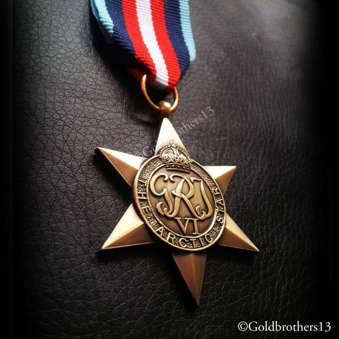 British Military Medal The Arctic Star detail