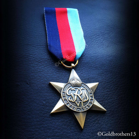 British Military Medal 1939 - 1945 Star detail 2