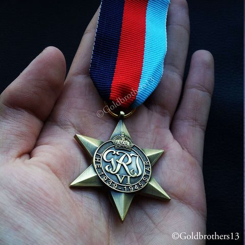 British Military Medal The 1939 - 1945 Star