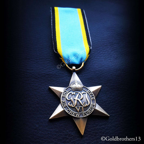 British Military Medal The Air Crew Europe Star