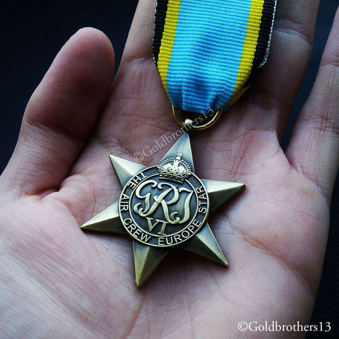 WW2 British Military Medal 1939 - 45 The Air Crew Europe Star