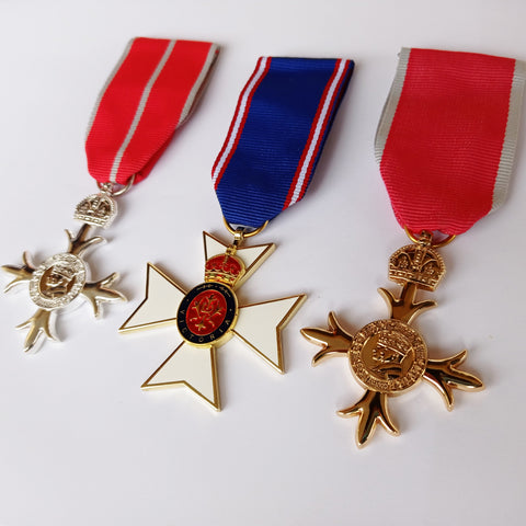 Royal Victorian Order and Order of the Britis Military Medals set Award Repro