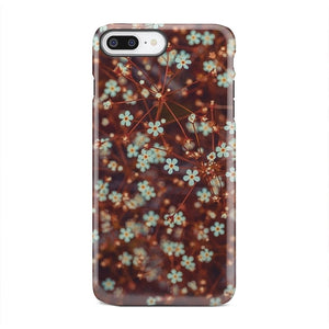 Rustic Brown Small Flower Pattern Case