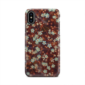 Rustic Brown Small Flower Pattern iPhone X Case - Intrepid Soul