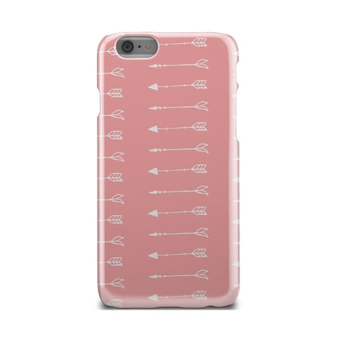 Pink And White Flying Arrows Pattern iPhone X Case - Intrepid Soul