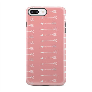 Pink And White Flying Arrows Case