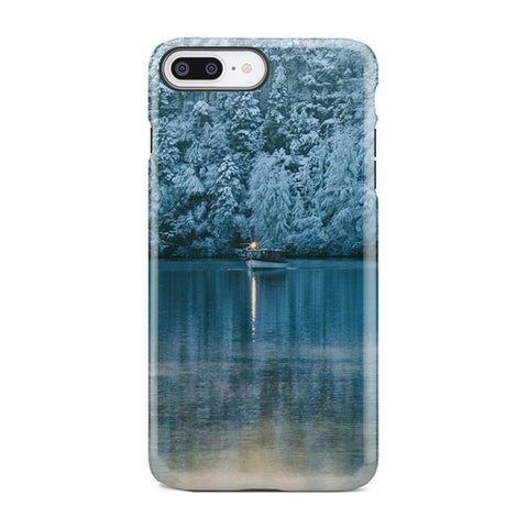 Boat On Frozen Lake Dusk Winter iPhone X Case - Intrepid Soul