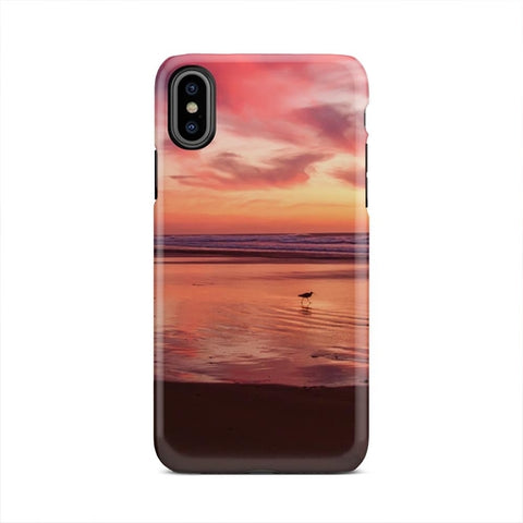 Beach Landscape Nature Sand Pink Horizon iPhone X - Intrepid Soul