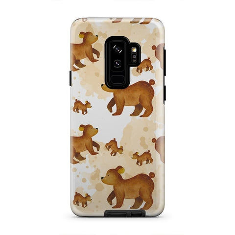 Cute Fall Bear And Baby Cub Forest iPhone X Case - Intrepid Soul
