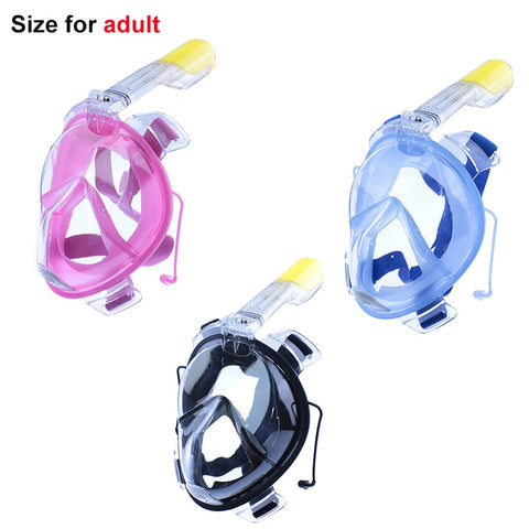 Anti Fog Full Face Diving Mask Snorkeling Set