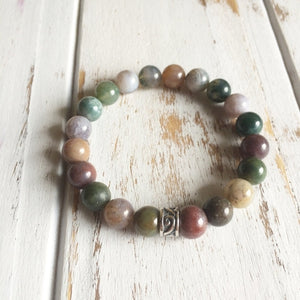 6mm Fancy Jasper Bracelet ~ Wholeness & Healing