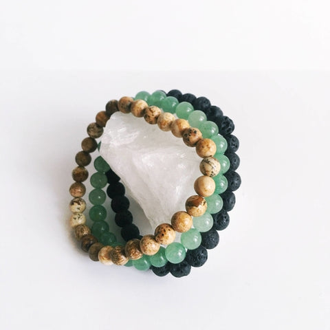 Remove Blockages - Aventurine, Lava Bead & Picture - Intrepid Soul