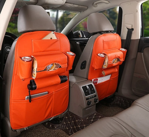 Image of Leather Car Seat Back Organizer - Intrepid Soul
