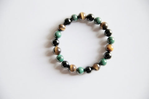 Genuine Black Onyx, Malachite & Tiger's Eye - Intrepid Soul
