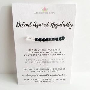 Defend Against Negativity Hemp Bracelet - Wish - Intrepid Soul
