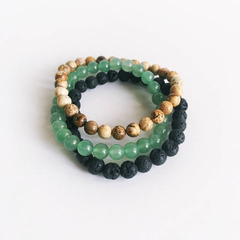 Image of Remove Blockages - Aventurine, Lava Bead & Picture - Intrepid Soul