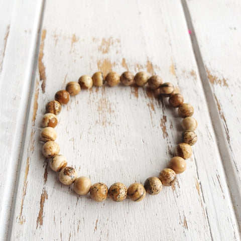 Image of 6mm Picture Jasper Bracelet ~ Meditation - Intrepid Soul