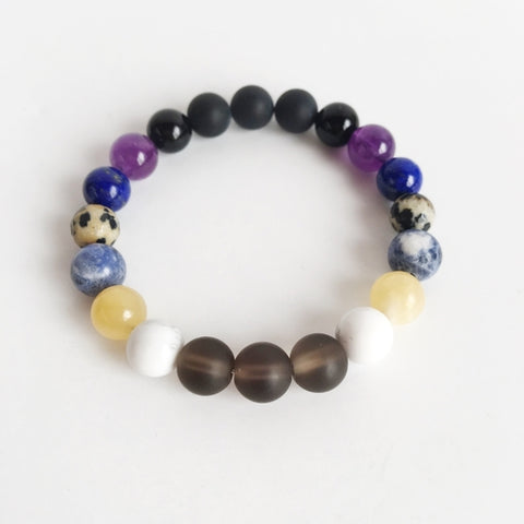 Image of Total Renewal Mix ~ Genuine Gemstone Mix Bracelet - Intrepid Soul