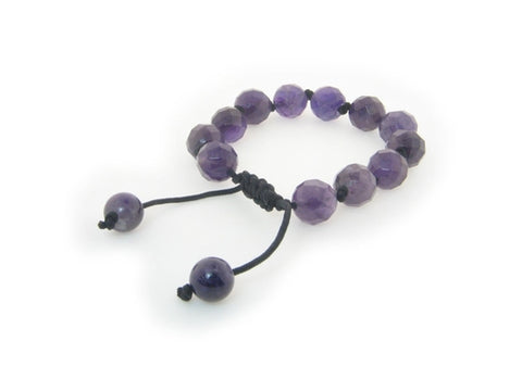 Genuine Natural Stone Macrame Shamballa Bracelet - Intrepid Soul