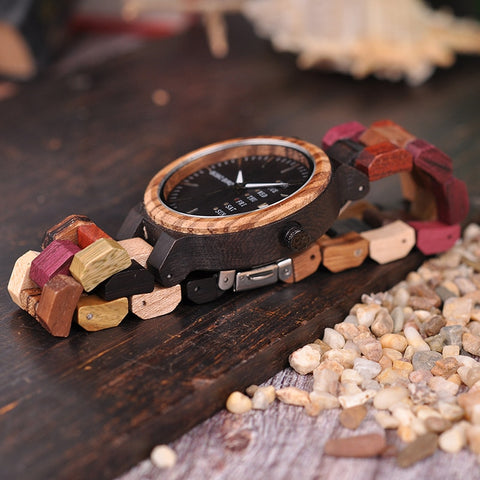 Bamboo Wooden Matching Mens or Womens Wristwatch