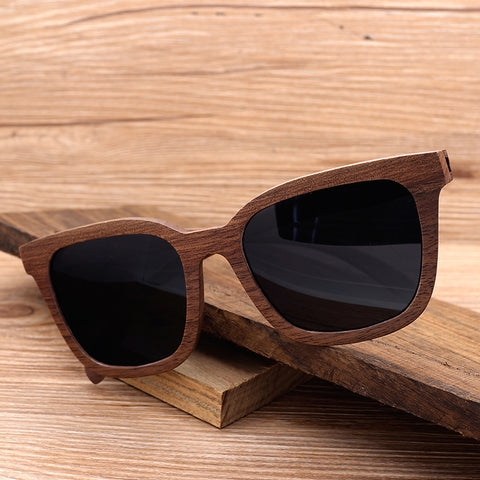 Black Walnut Wooden Polarized  Sunglasses  Vintage UV400
