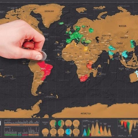 Image of Scratch Off World Map