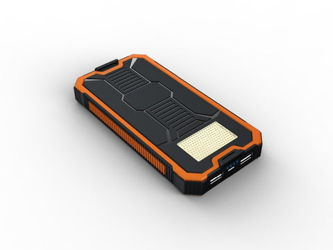 Waterproof 20000mah Solar Power Bank with LED Light