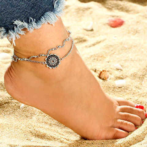 Beautiful Flower Chic Chain Foot - Intrepid Soul